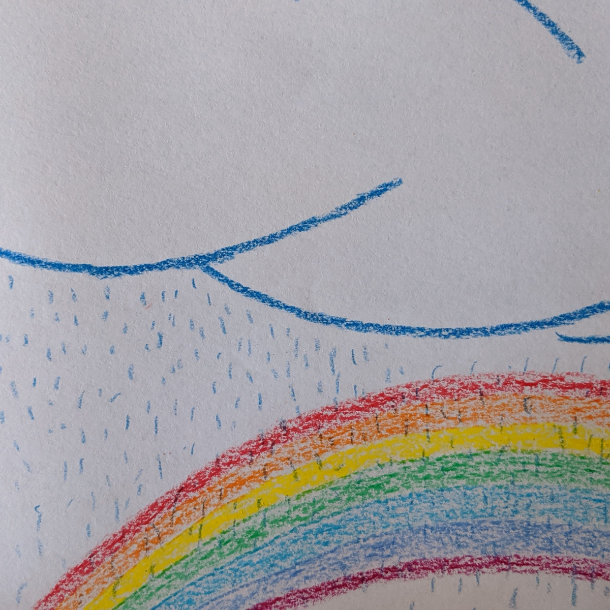desenho infantil de sol, chuva e arco-iris